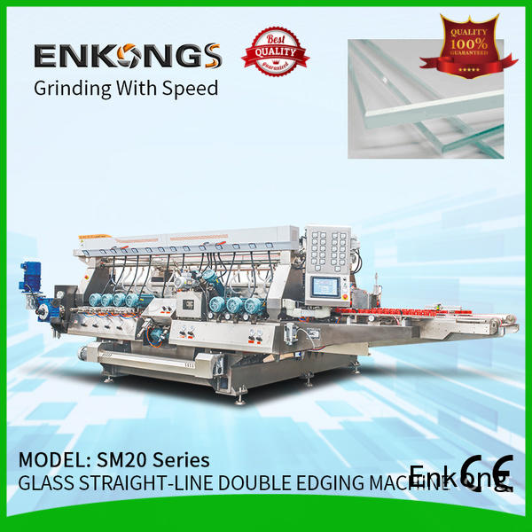 Enkong quality glass double edging machine supplier for photovoltaic panel processing