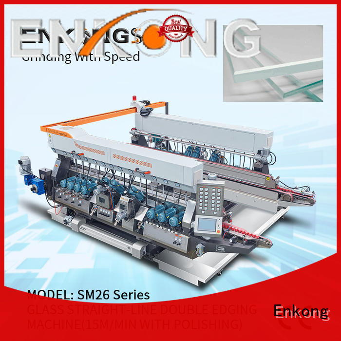 Enkong high speed double edger machine manufacturer for round edge processing