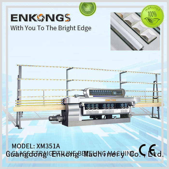 Enkong real glass beveling machine for sale wholesale for glass processing