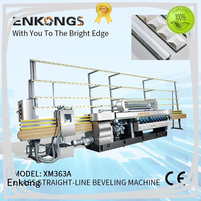 Enkong 10 spindles glass beveling machine series for polishing