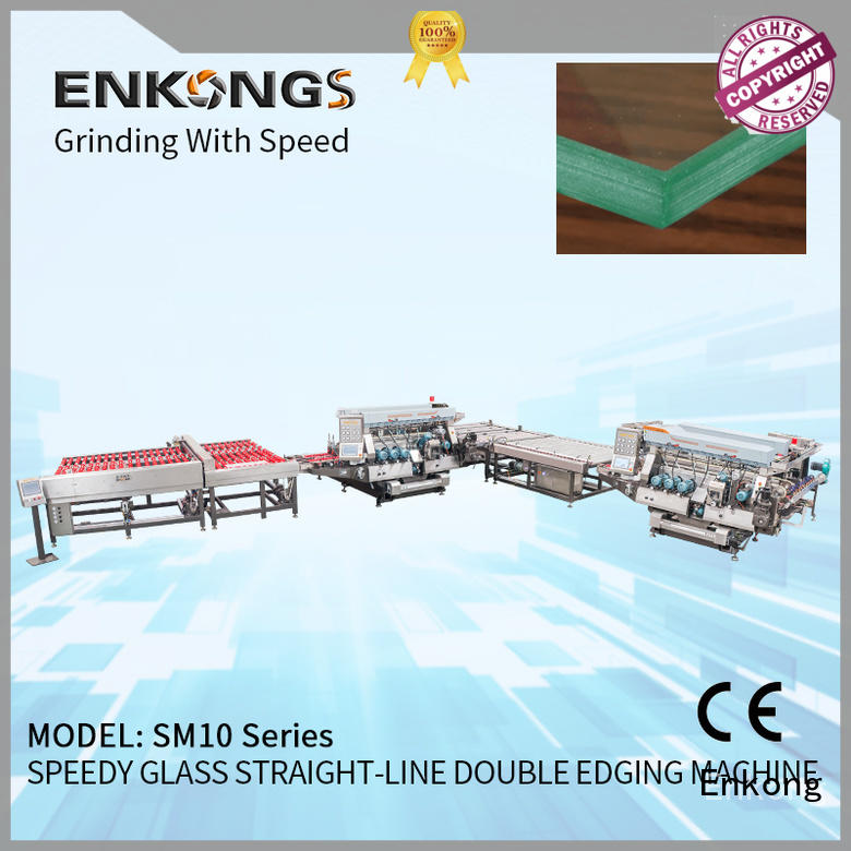 Enkong SM 26 glass double edging machine manufacturer for household appliances