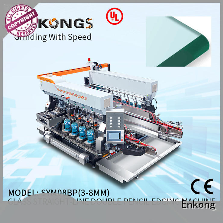 Enkong high speed glass double edging machine factory direct supply for photovoltaic panel processing