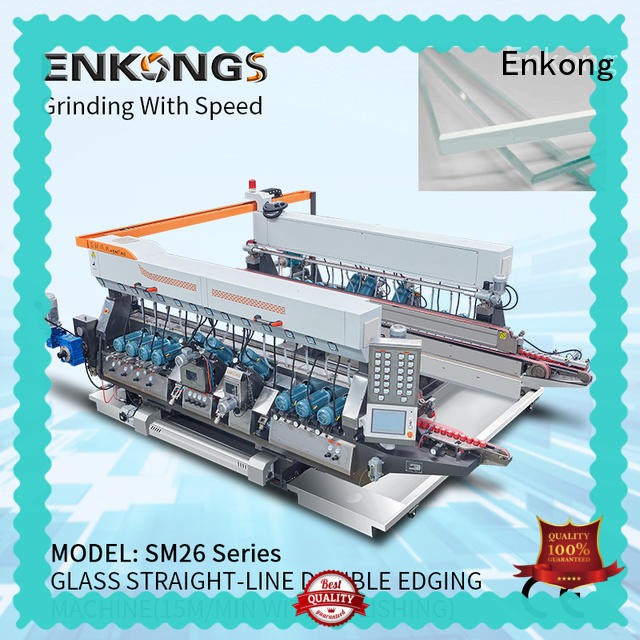 Enkong SM 12/08 glass double edging machine manufacturer for round edge processing