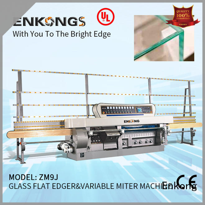 Enkong 60 degree glass mitering machine customized for grind