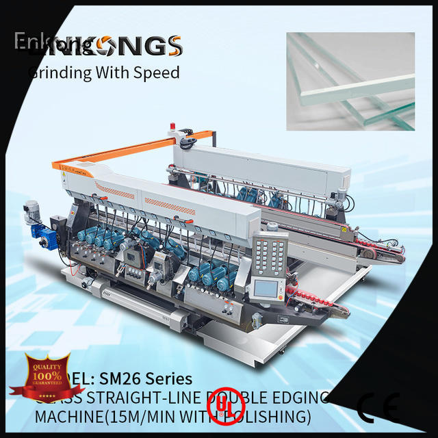 Enkong quality glass double edging machine manufacturer for round edge processing