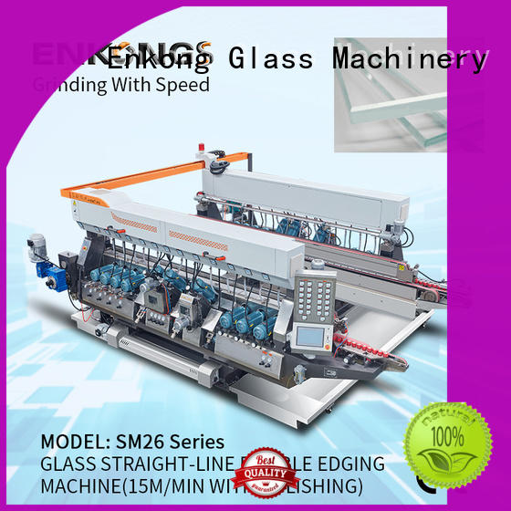 cost-effective glass double edging machine modularise design factory direct supply for round edge processing