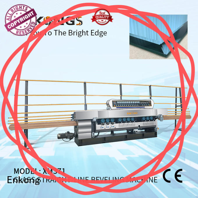 Enkong long lasting glass beveling machine for sale series for glass processing