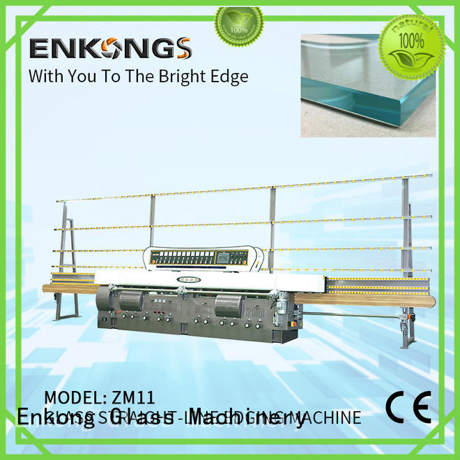 Enkong zm11 glass edge grinding machine customized for fine grinding