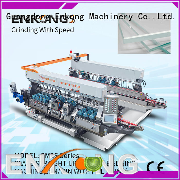 Enkong SM 22 double edger machine supplier for round edge processing