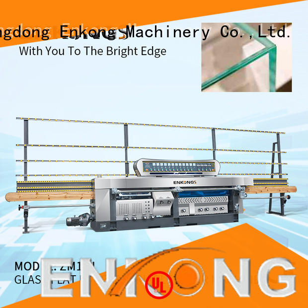 Enkong ZM9J glass mitering machine customized for grind