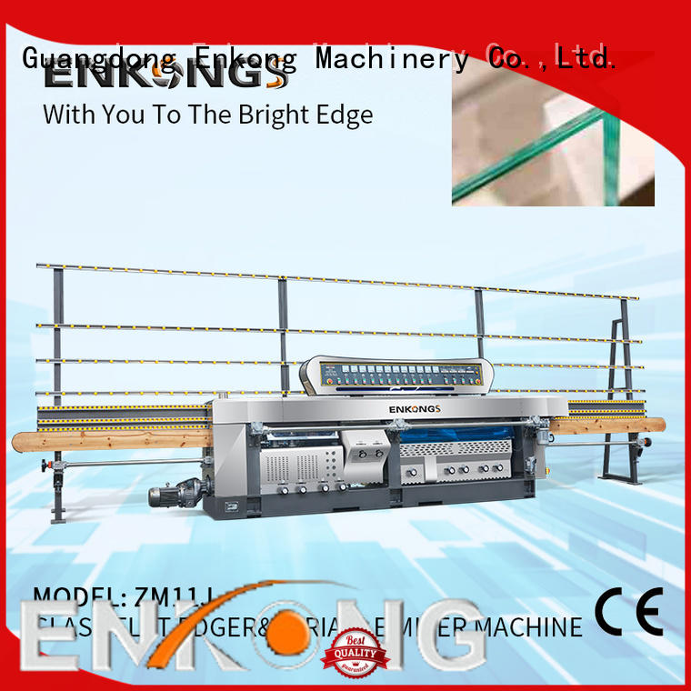 Enkong 60 degree glass mitering machine manufacturer for polish