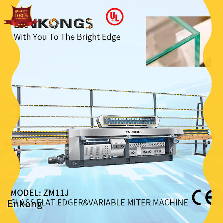 Enkong real glass mitering machine wholesale for grind