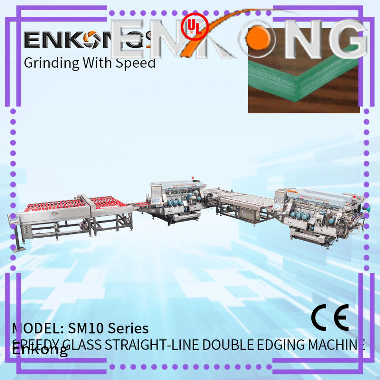 Enkong SM 22 glass double edging machine series for household appliances