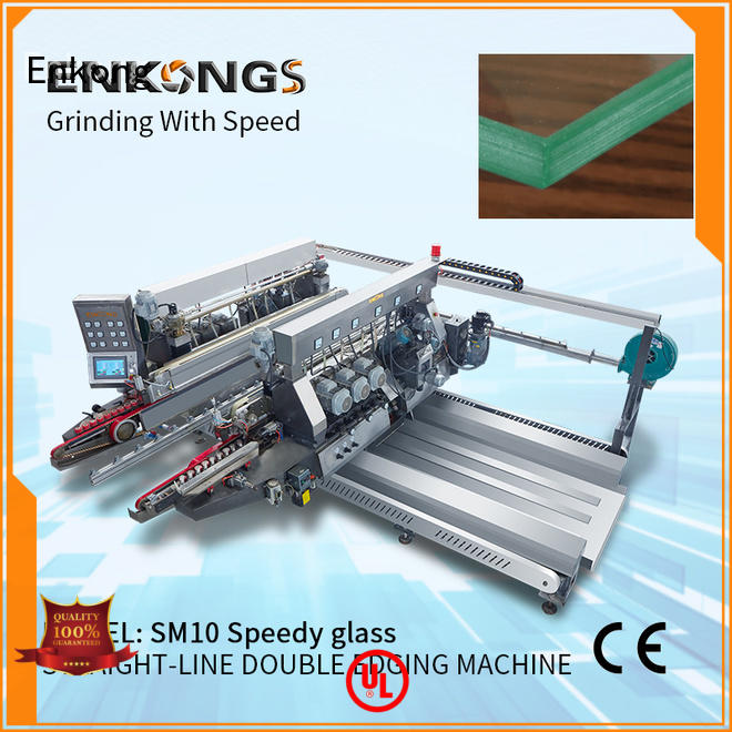 Enkong SYM08 double edger machine supplier for round edge processing