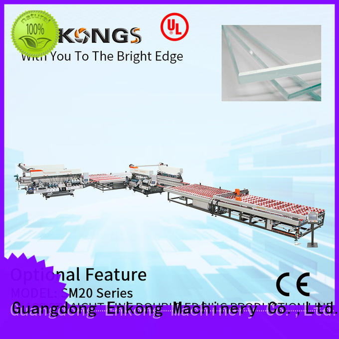 Enkong SM 22 glass double edging machine manufacturer for household appliances