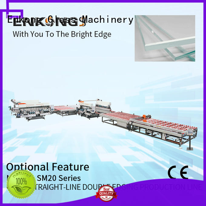 Enkong SM 26 glass double edging machine factory direct supply for photovoltaic panel processing